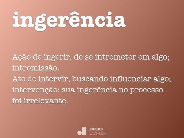 inger�ncia