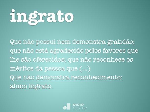 Filho Ingrato: Dicio, Dicionário Online De Português