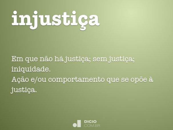 injusti�a