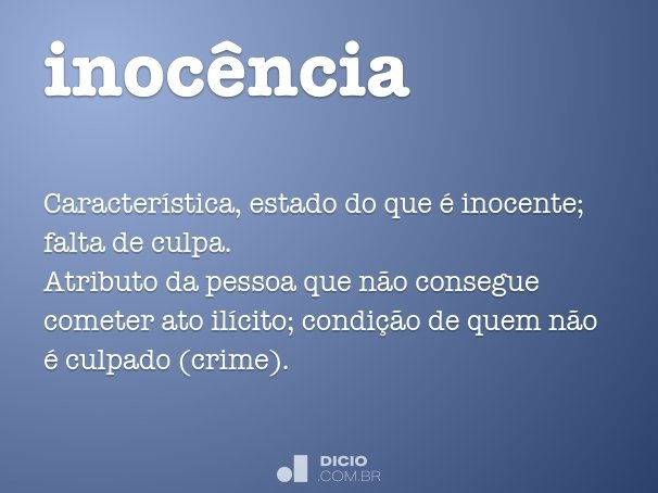 inoc�ncia