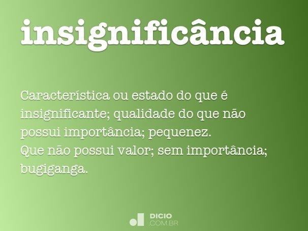insignific�ncia