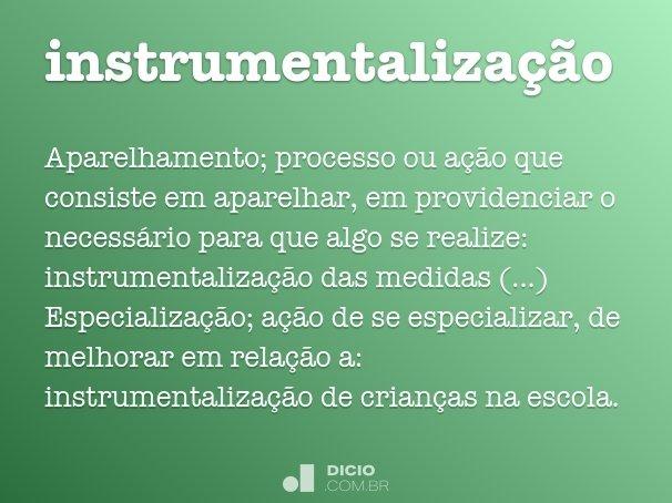 instrumentaliza��o
