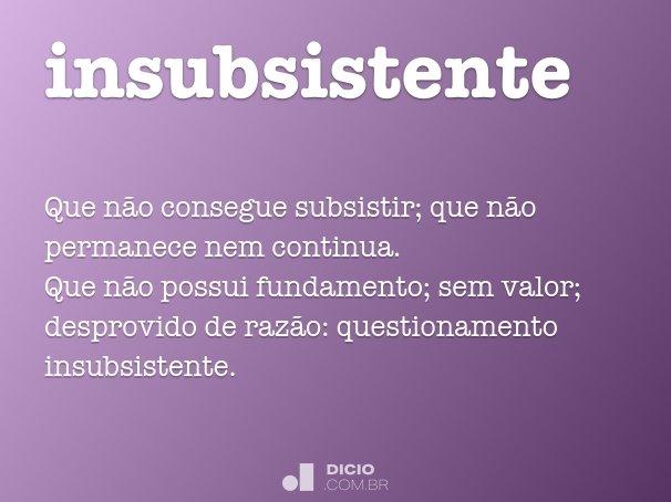 insubsistente