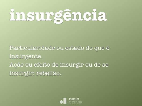 insurg�ncia
