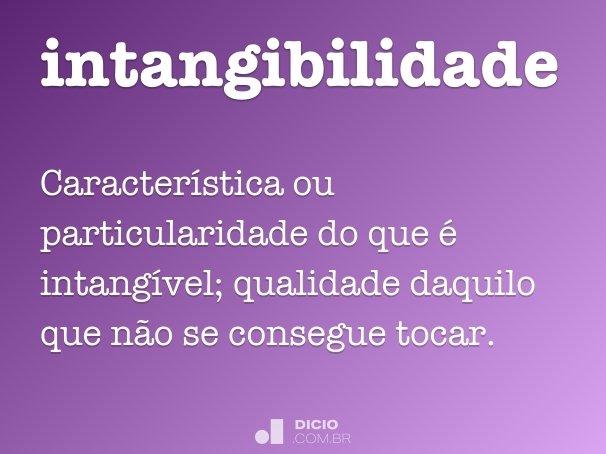 intangibilidade
