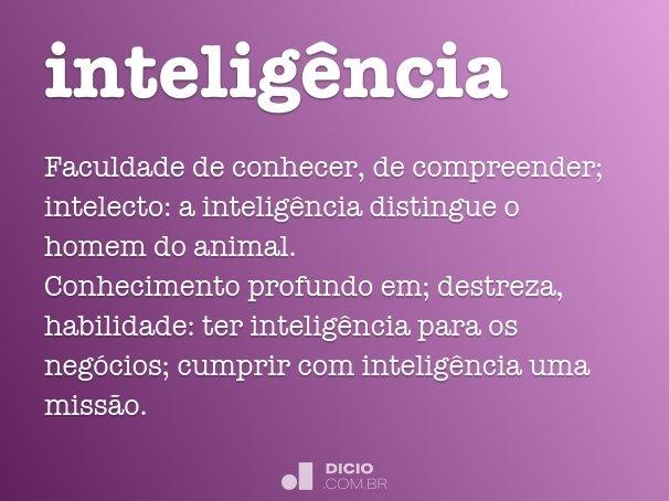 intelig�ncia