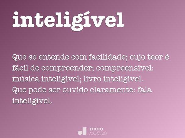 inteligível
