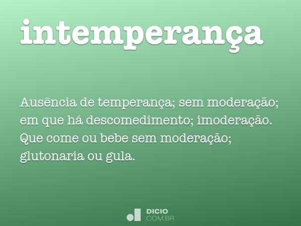 intemperança