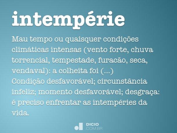 intemp�rie