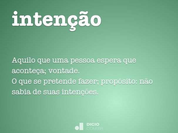 intenção