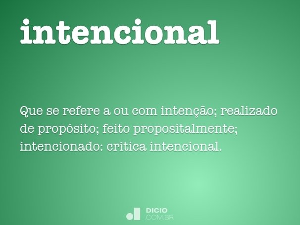 intencional