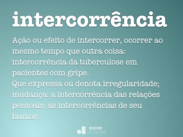 intercorr�ncia
