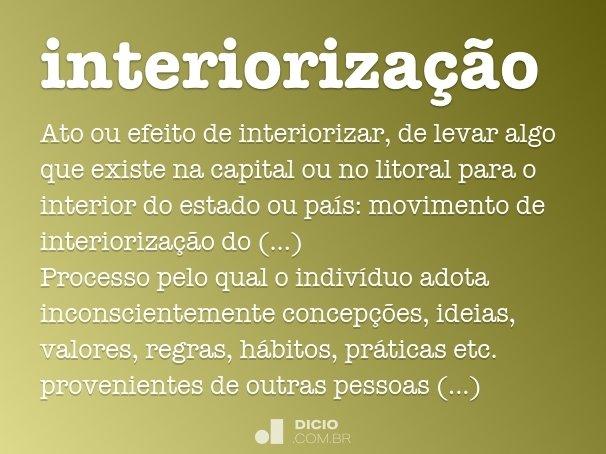 interioriza��o