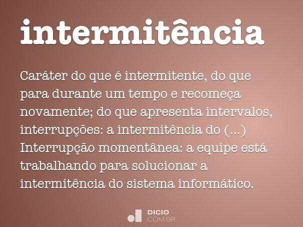 intermit�ncia