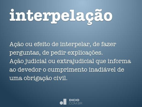 interpelação