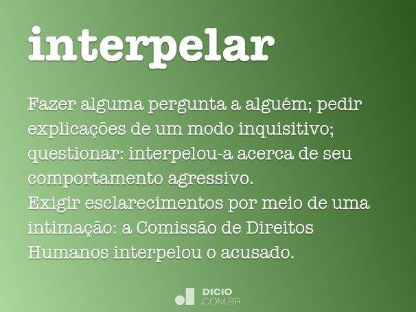 interpelar