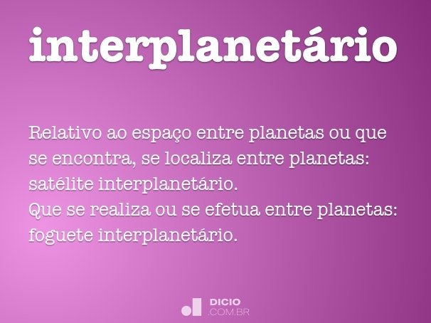 interplanet�rio