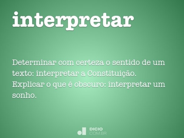 interpretar