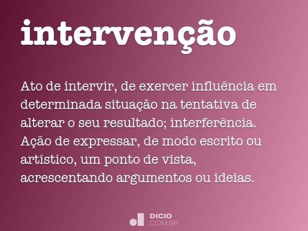 interven��o