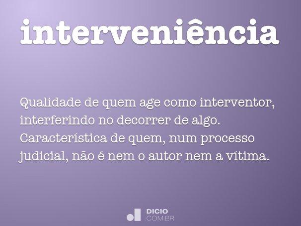interveni�ncia