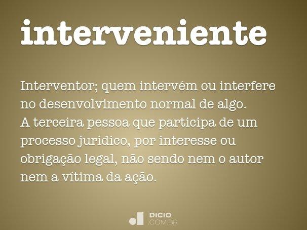 interveniente