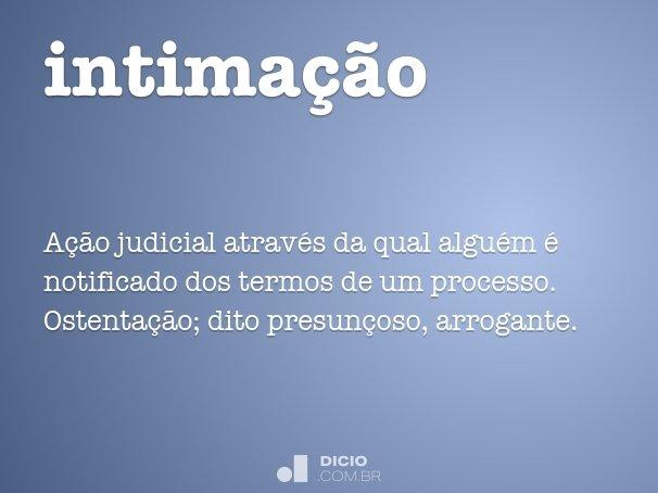 intima��o