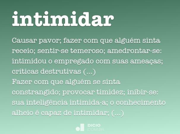 intimidar