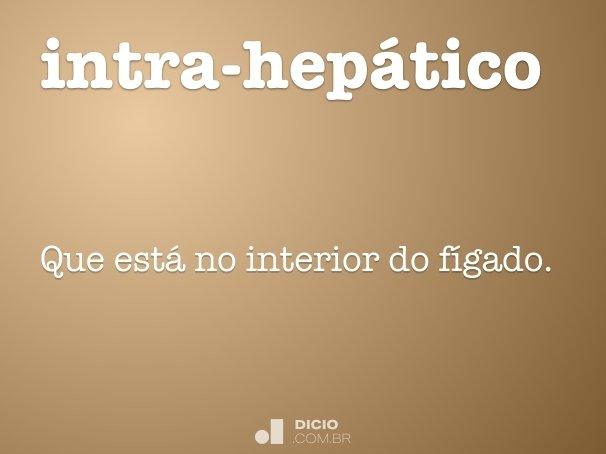 intra-hep�tico