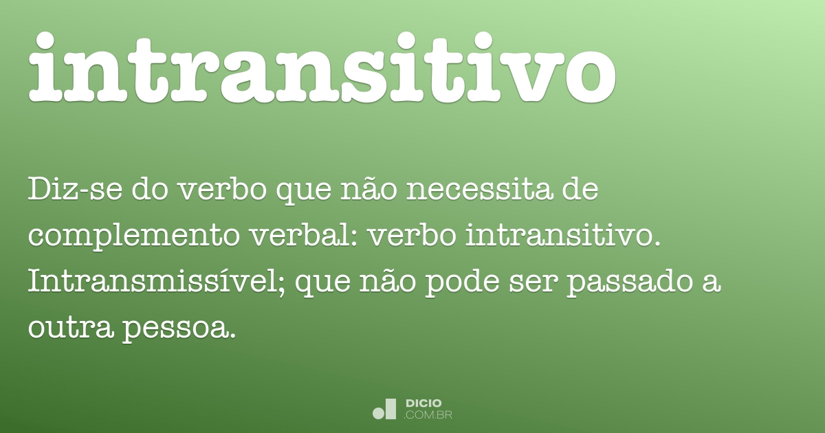 intransitivo