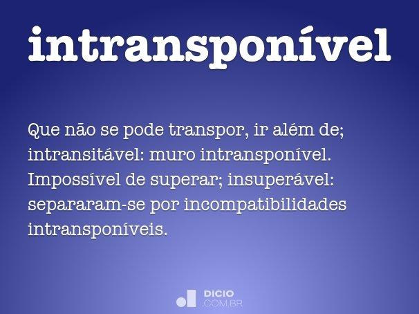intranspon�vel