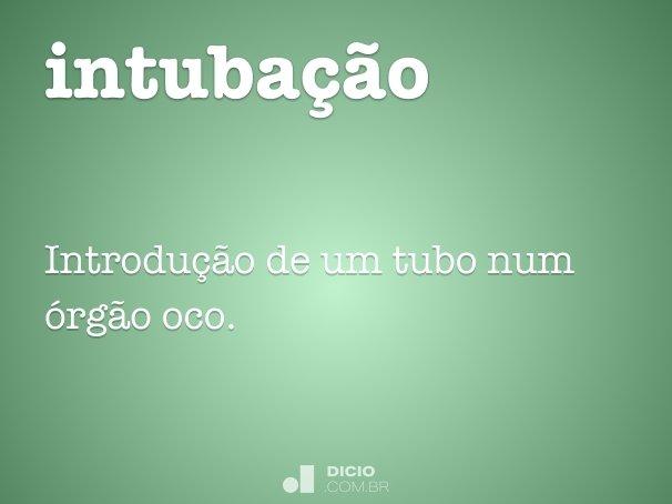 intuba��o