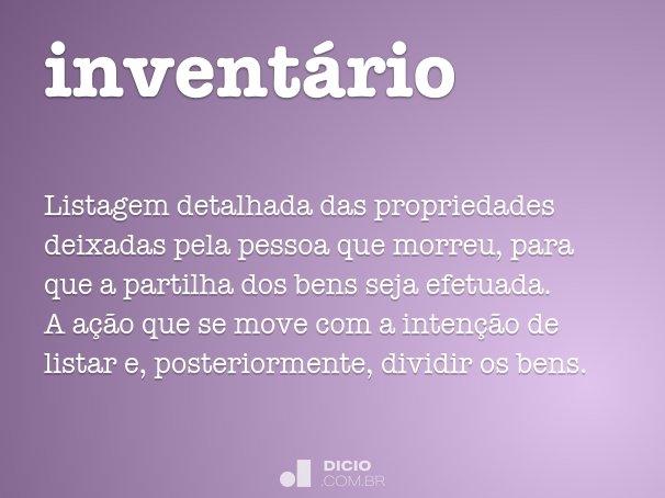 invent�rio