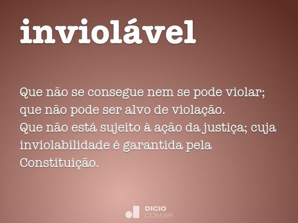 inviol�vel
