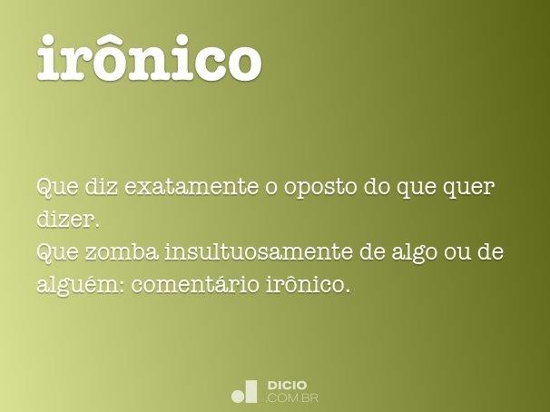 irônico