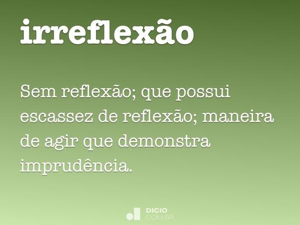 irreflex�o