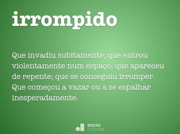 irrompido
