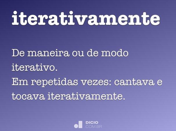 iterativamente