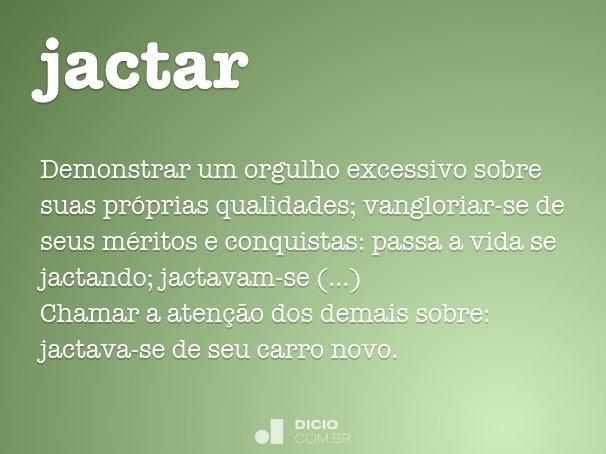 jactar-se