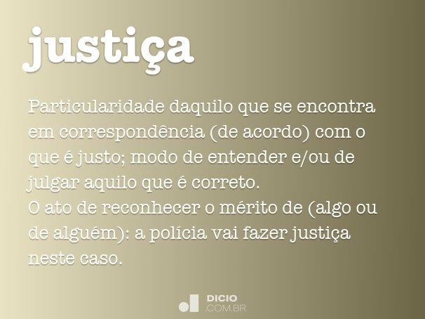 justi�a