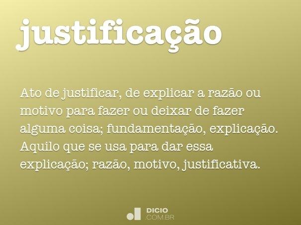 justifica��o