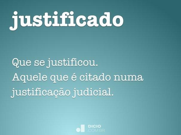 justificado