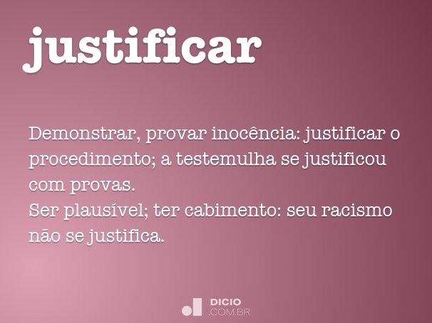 justificar