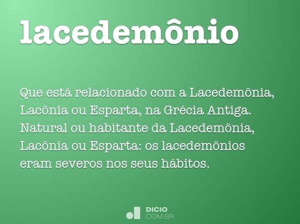 lacedem�nio