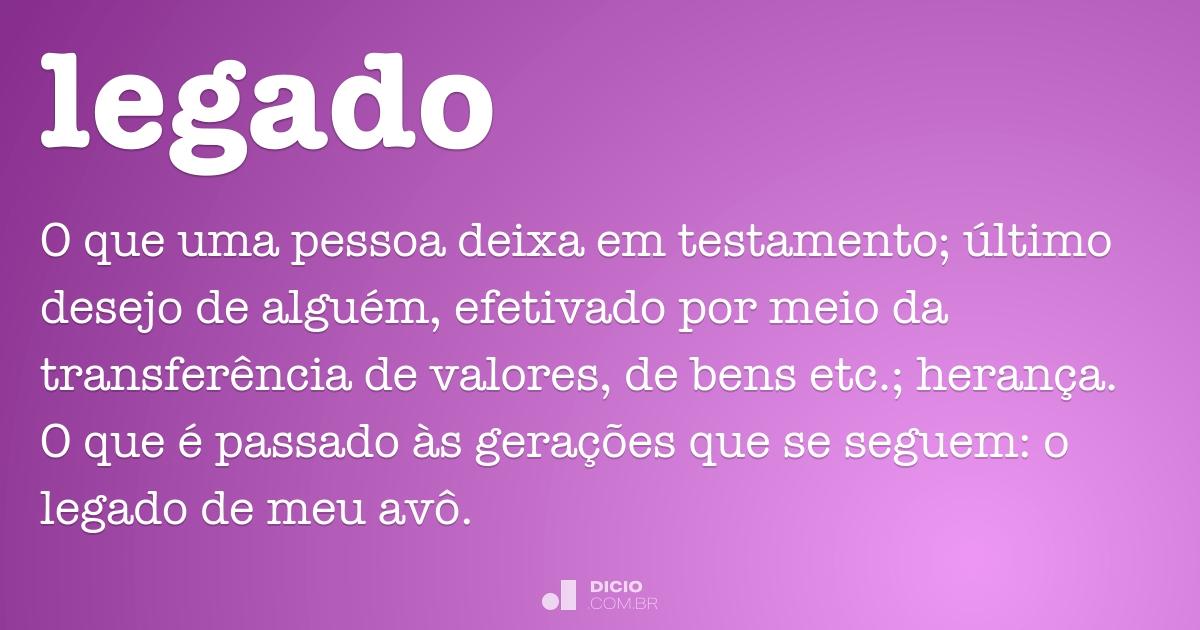 Legado Dicio Dicionário Online De Português