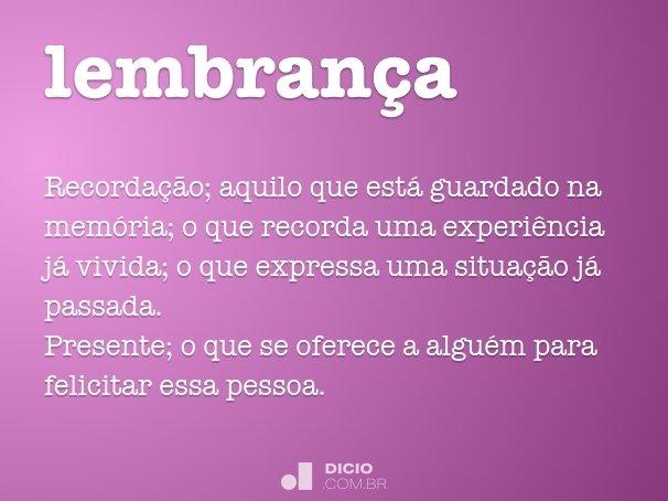 lembran�a