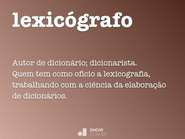 lexicógrafo