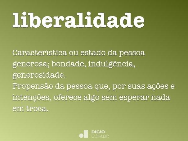 liberalidade