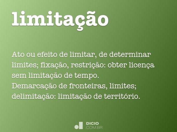 limitação
