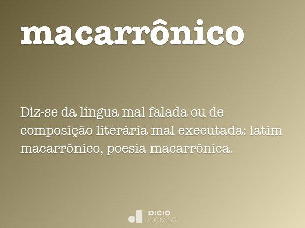 macarr�nico