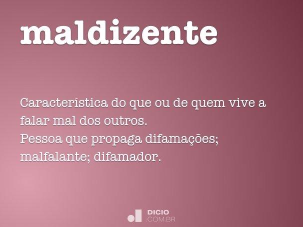 maldizente